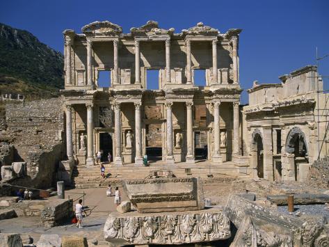 Celsus Library, Ephesus, Anatolia, Turkey Minor Photographic Print