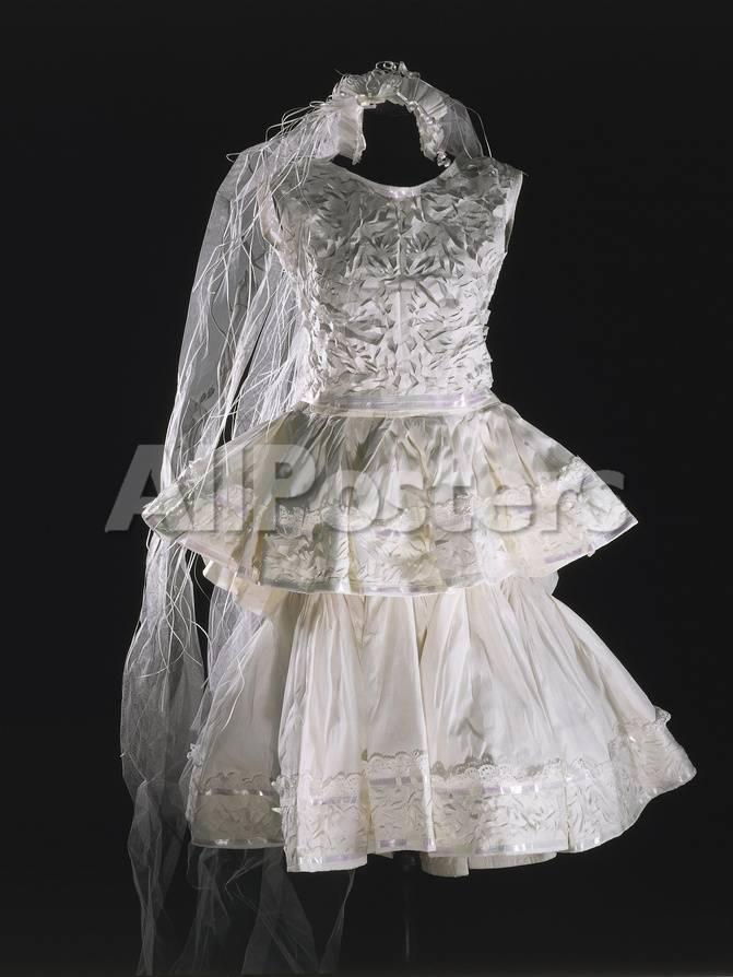 Short Paper Wedding Dress Model By Balenciaga 1960 Giclee Print At Allposters