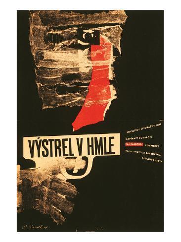 Shot in the Fog-Vystrel V Hmle Art Print