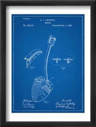 Shovel Patent Framed Art Print