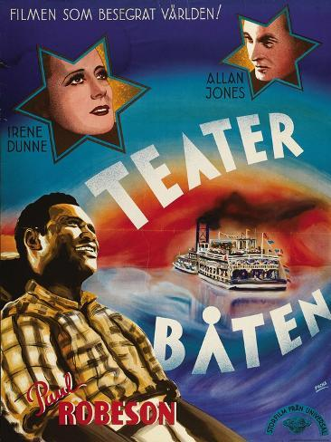 Show Boat, Swedish Movie Poster, 1936 アートプリント