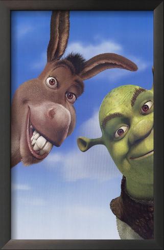 Shrek 2 Impressão artística emoldurada