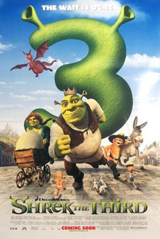 Shrek 3 Double-sided poster