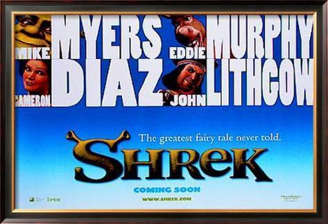 Shrek Pôster emoldurado