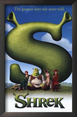 Shrek Impressão artística emoldurada