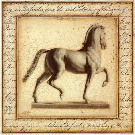 Statuesque Horse I Art Print