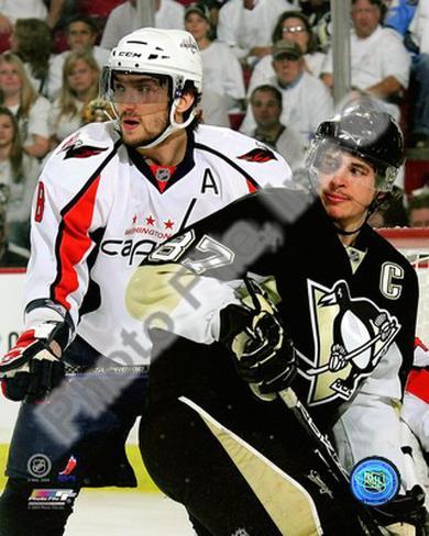 Sidney Crosby & Alex Ovechkin 2008-09 Playoffs Photo