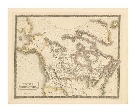 British North America, 1829 Premium Giclee Print