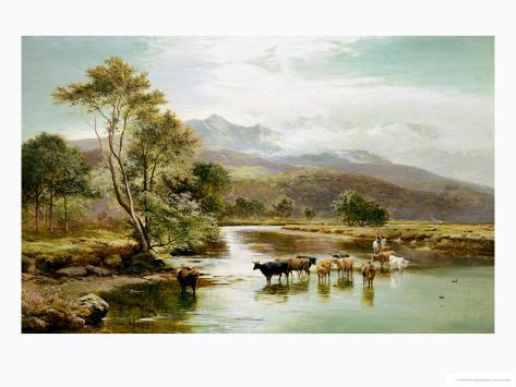 Cader Idris from the River Mawddach Giclee Print