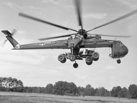 Sikorsky Ch-54 Skycrane in Flight Stampa fotografica