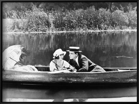 Silent Film Still: Couples Framed Art Print