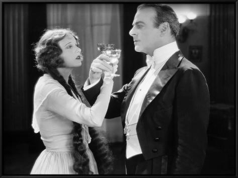 Silent Film Still: Drinking Framed Art Print