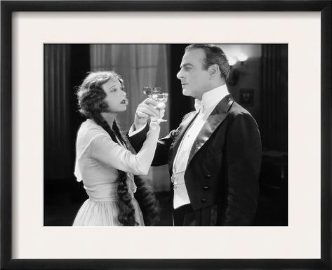 Silent Film Still: Drinking Impressão fotográfica emoldurada