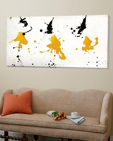 Abstract Background V Gold and Black Loft Art