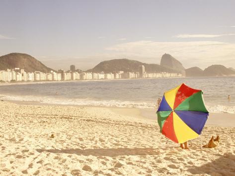 Copacabana Beach, Rio de Janeiro, Brazil Photographic Print