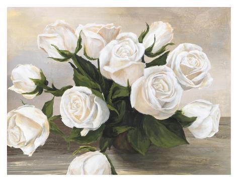 Vaso di Rose Art Print