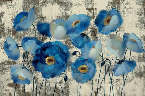 Aquamarine Floral Art Print