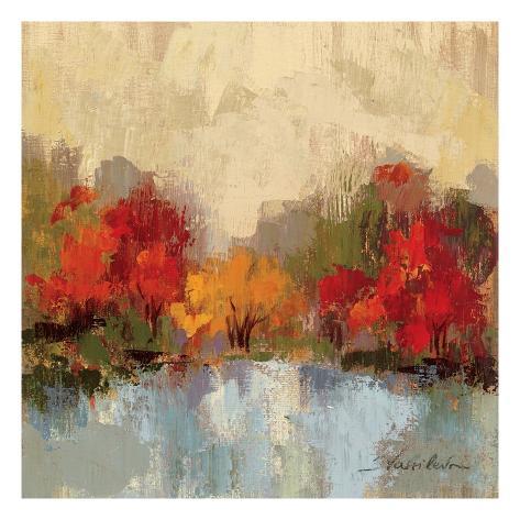 Fall Riverside I Premium Giclee Print