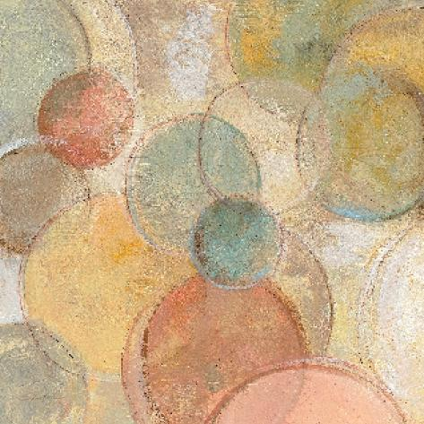 Fresco Bubbles Art Print