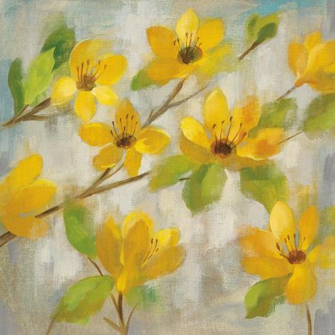 Golden Bloom II Premium Giclee Print