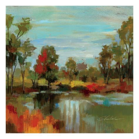 Hidden Pond Hues I Premium Giclee Print
