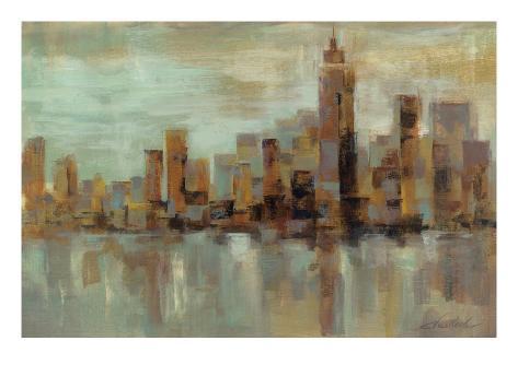 Misty Day in Manhattan Art Print