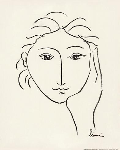 Boceto de una cara de mujer II Láminas por Simin Meykadeh en ...