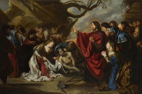 The Raising of Lazarus Lámina giclée
