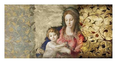 Virgin Mary (After Bronzino) Art Print
