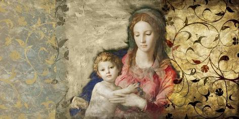 Virgin Mary (After Bronzino) Stretched Canvas Print