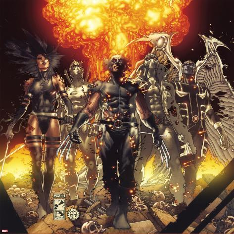 Fear Itself: Uncanny X-Force No.1 Cover: Wolverine, Psylocke, Fantomax, Archangel, and Deadpool Poster