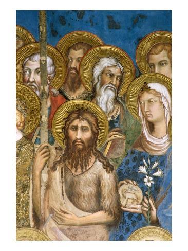 Detail of Saints and Martyrs from Maesta Giclee Print