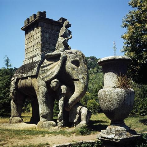 Elephant, Sculpture Giclee Print