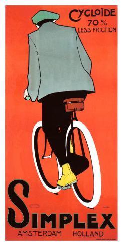 Simplex Bicycle, 1915 Giclee Print