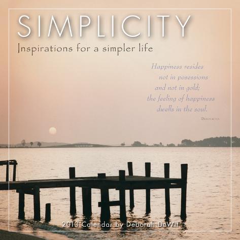 Simplicity  - 2013 12-Month Mini Calendar Calendars