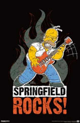 Simpsons - Springfield Rocks Masterprint
