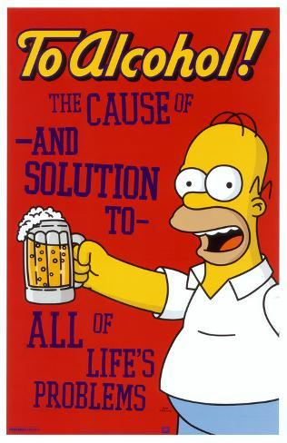 Simpsons - To Alcohol Masterprint