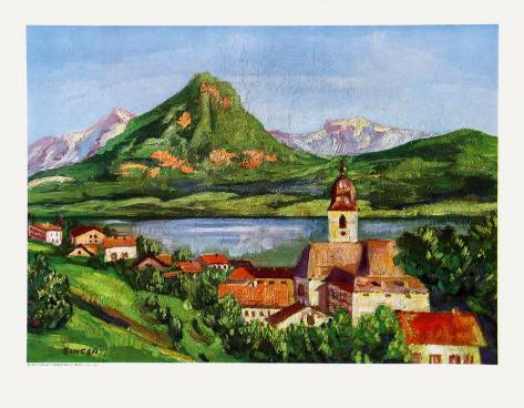 St-Wolfgang at the Wolfgangsee Collectable Print