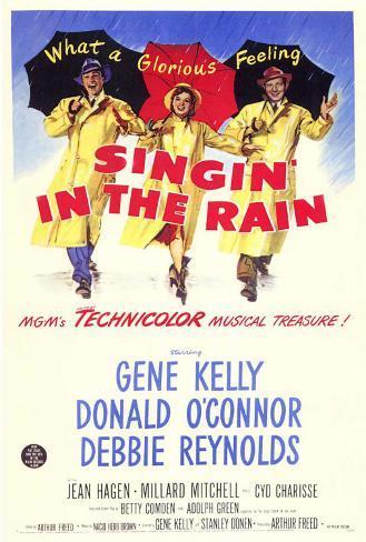 Singin' In The Rain Framed Canvas Print