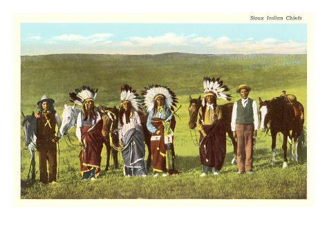 Sioux Indian Chiefs Art Print