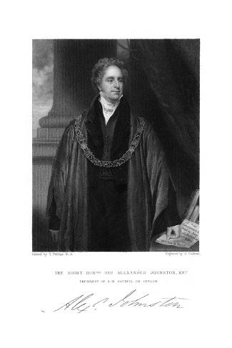 Sir Alex. Johnston Giclee Print