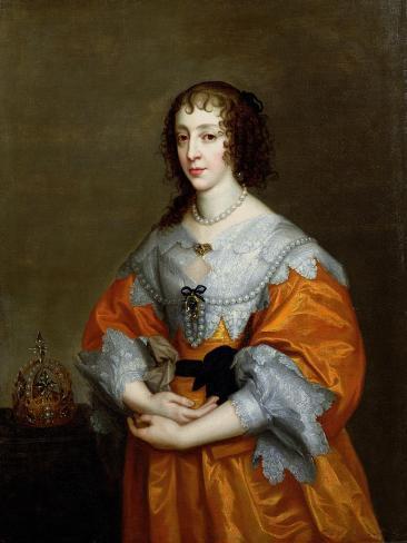 Portrait of Queen Henrietta Maria (1609-69) Lámina giclée