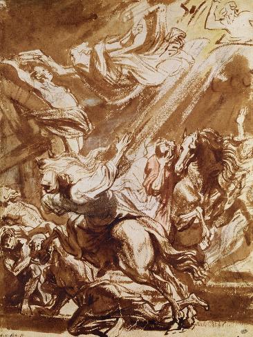 The Martyrdom of Saint Catherine Lámina giclée