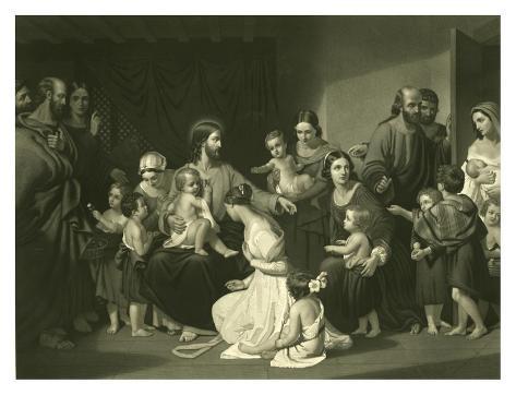 Christ Blessing the Little Children Art Print