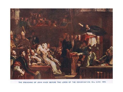 The Preaching of John Knox before the Lords of the Congregation in June 1559 Lámina giclée