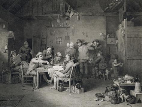 The Village Politicians, Engraved by Abraham Raimbach (1784-1868), 1814 (Engraving) Lámina giclée
