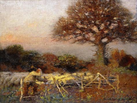 A Sheepfold, Early Morning, 1890 Lámina giclée