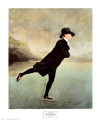 Rev Robert Walker Skating on Duddin Framed Art Print