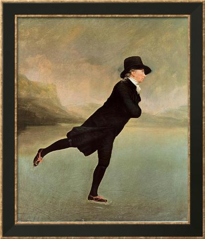 Reverend Robert Walker Skating on Duddin Framed Art Print