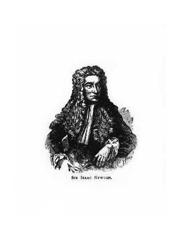 Sir Isaac Newton, English Mathematician, Astronomer and Physicist Giclee Print